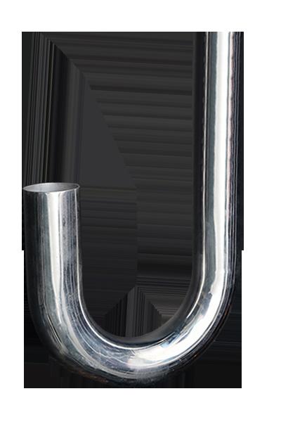 J shape aluminum pipe